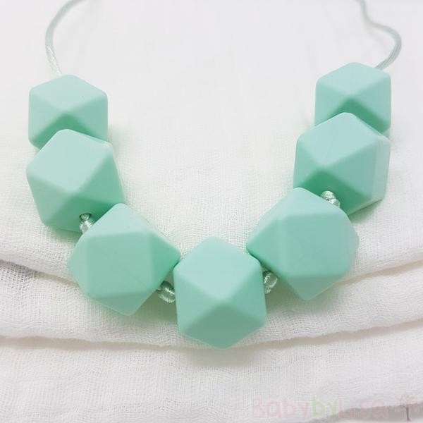 Silicone Teething Necklace - Blue