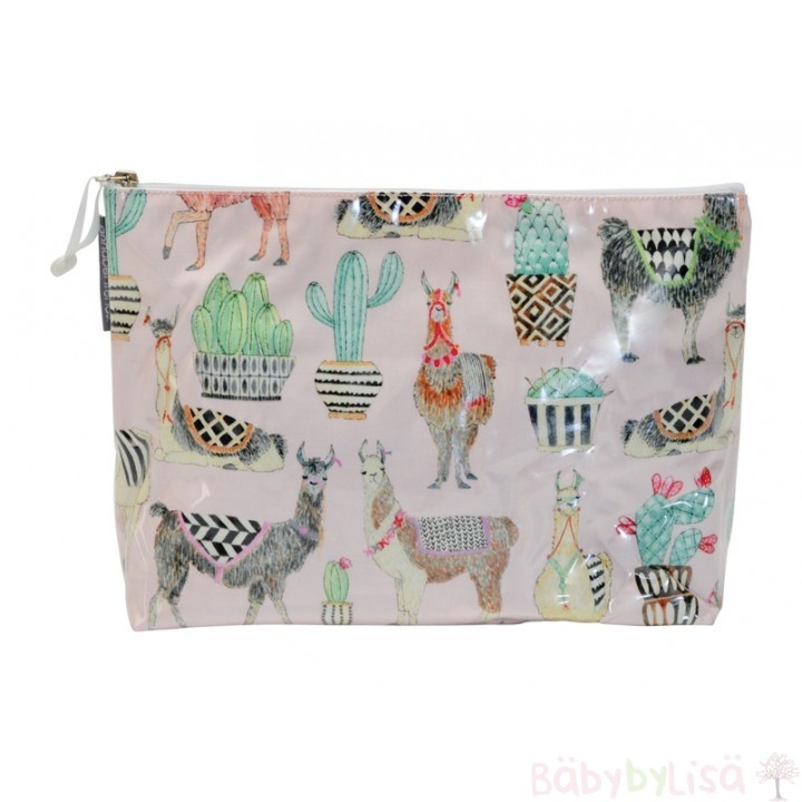 Annabel Trends Large Cosmetic Bag (Large Beauty Bag) - Llamas
