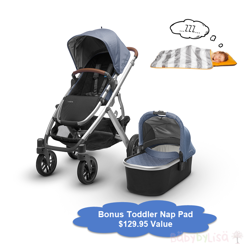 UPPAbaby VISTA with bonus Toddler Siesta Nap Pad