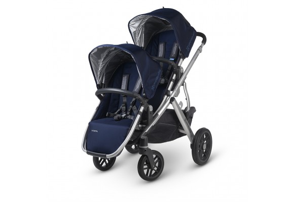 UPPAbaby VISTA Rumble seat installed - Navy/Silver (Taylor)